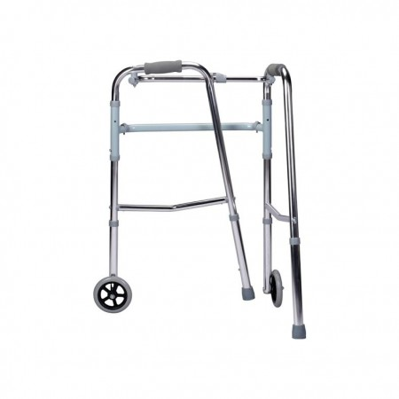 Walker with wheels - Aluminium