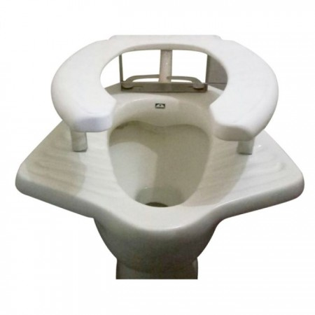 Raised Toilet Seat Anglo-indian Commode - Pedder Johnson