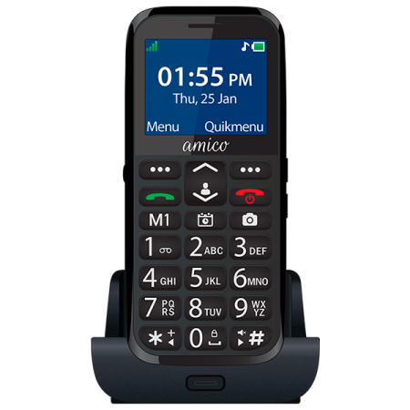 Easy Fone Senior Phone-Amico (Black)