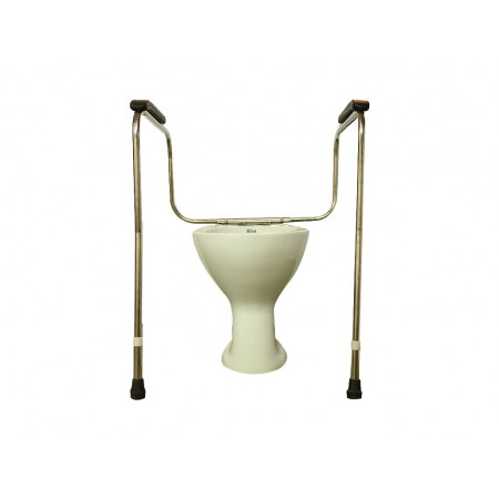 Height Adj. Toilet Safety Rail SS